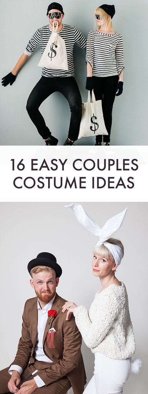 16 super easy costume ideas for and a friend or partner #halloweencostume #adult...