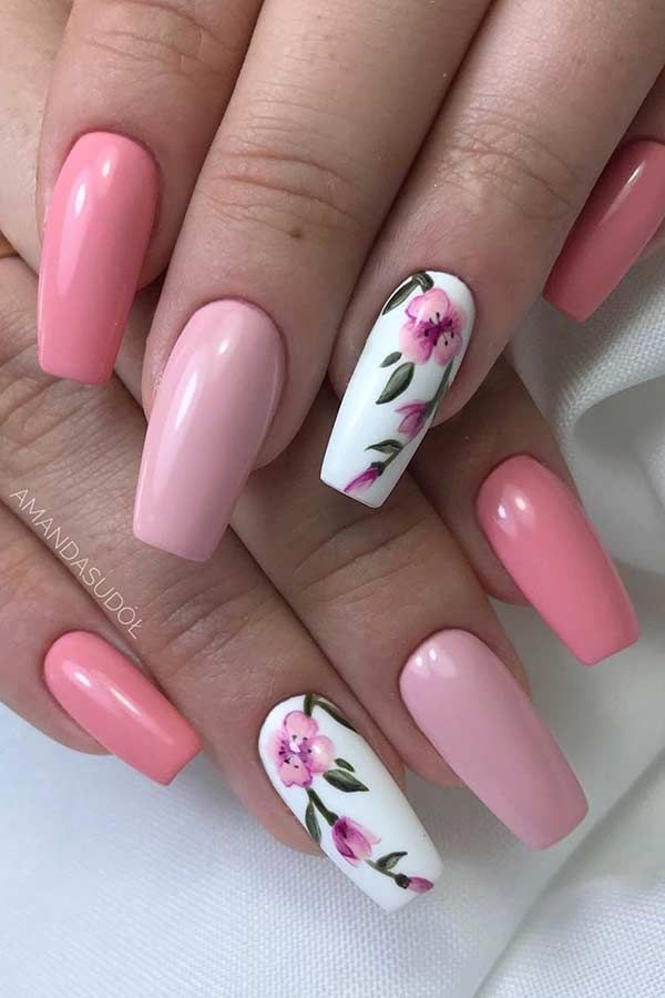 23 Light Pink Nail Designs and Ideas to Try # Try #hellrosa #ide ...