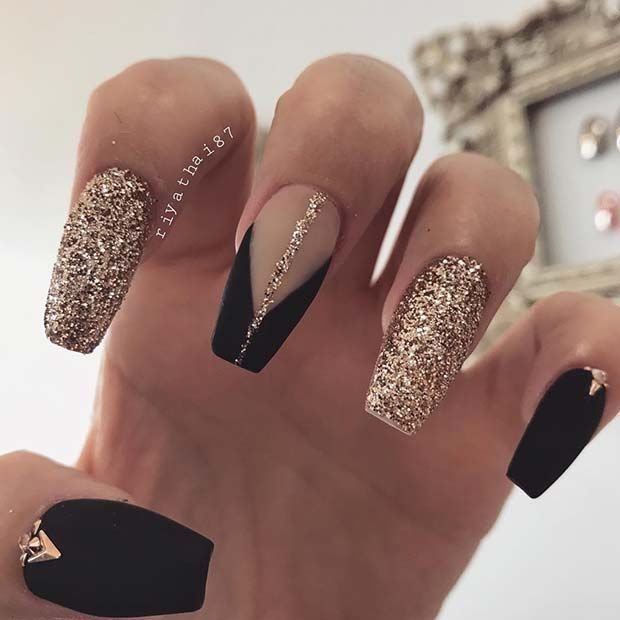 23 nail ideas for your next Mani #blacknails # nails black