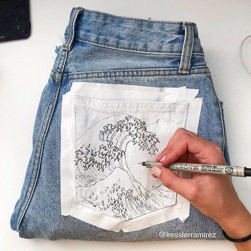 25 +> Poof! My hand needs a break after drawing. The Great Wave Of ...