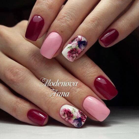 27 hübsche Blumen-Nagel-Inspirationen  #blumen #hubsche #inspirationen #nagel