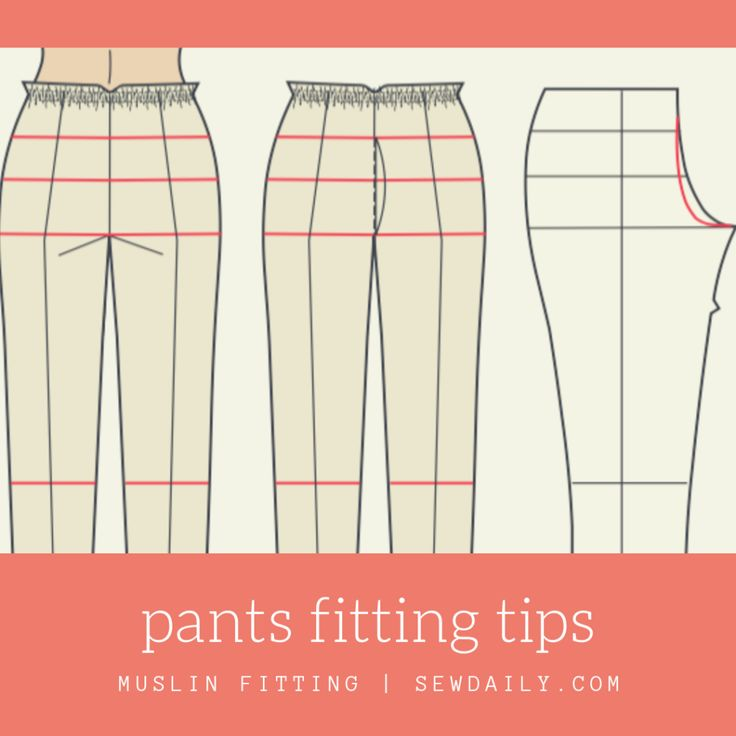 Pants Fitting: Determine Your Crotch Curve with a Pants Fitting Muslin - Sew Dai...