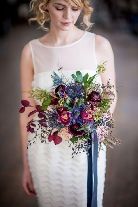 30 Beautiful Jewel Tone Wedding Flower Ideas #Florals #Wedding #Ideas #J ...
