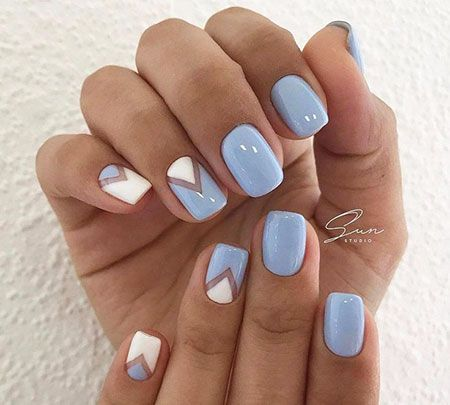30 blue and white nails #blue # nail