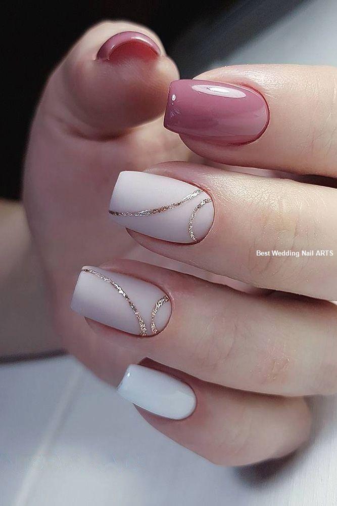 35 Simple Ideas for Wedding Nails Design #nailartideas #nailart