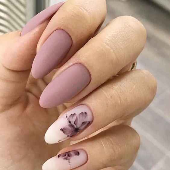 36 Perfect and Outstanding Nail Designs for Winter 2018; dark color nails; Gel n...