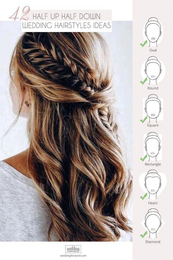 42 Half Up Half Down Wedding Hairstyles Ideas #Hot Hairstyles #Ideas