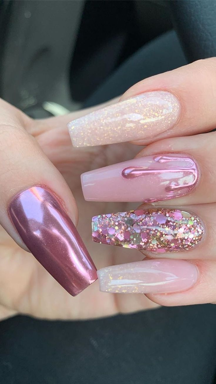 44 Best Coffin Nail & Gel Nail Designs for Summer 2019 - Page 4 of 43 #c ...