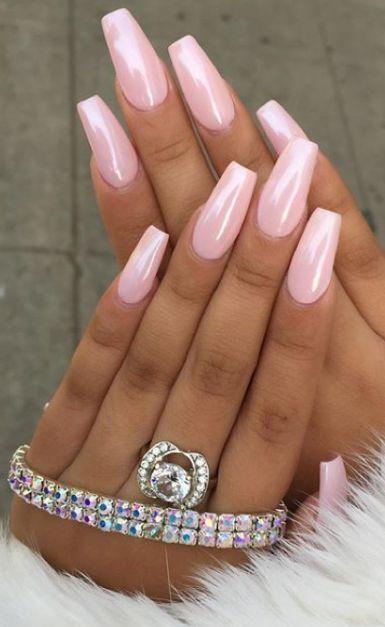 52 niedliche und schöne rosa Nägel Designs, um romantisch und Girly aussehen  ...