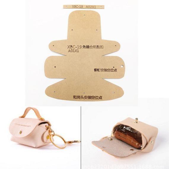 1 Set Leather Craft Women Fashion Handbag Sewing Pattern Hard Kraft Paper S ...