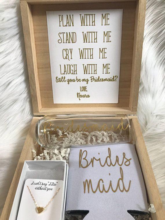 Bridesmaid proposal box // maid of Honor proposal box Looking for the perfect wa...