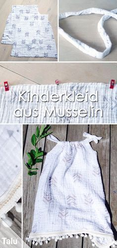 Children's dress sewing - Summer dress made of muslin - Instructions - Talu.de