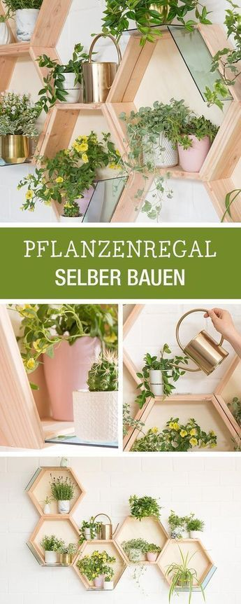 DIY manual for a honeycomb planter, wooden living decoration, developed for ...
