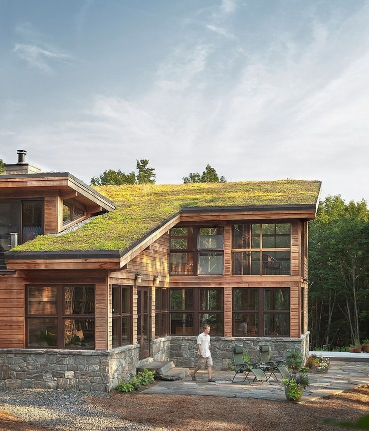 Warm sustainable home using many natural materials expressed in modern ways loca...