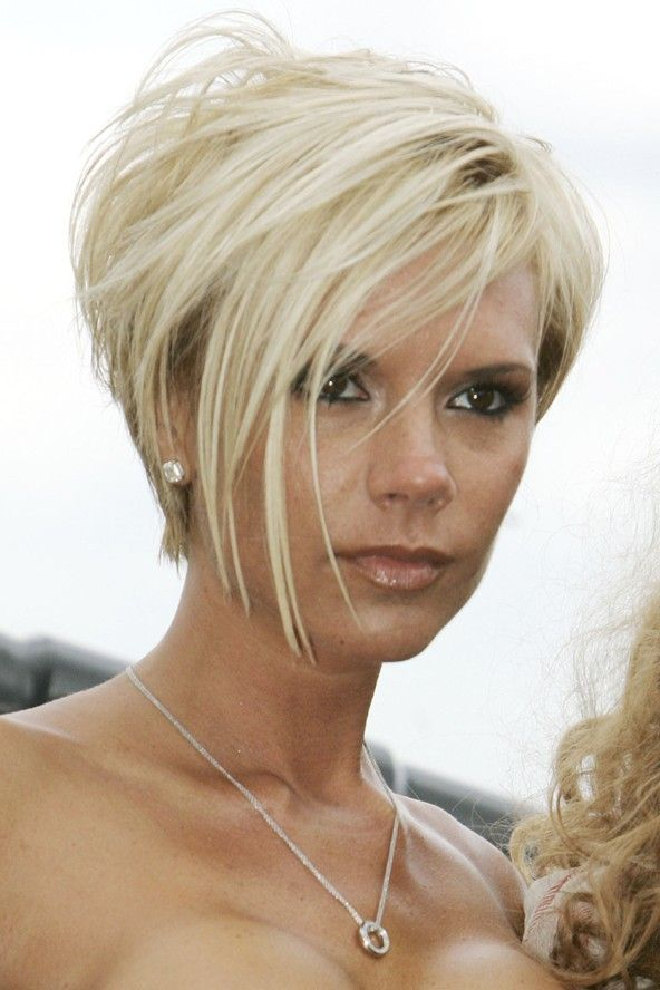 Victoria Beckham is back with her new cut from year to year in her po ...
