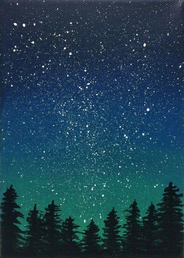 Acrylic Galaxy Painting Ideas, #acrylic #galaxy # Ideas #painting ...