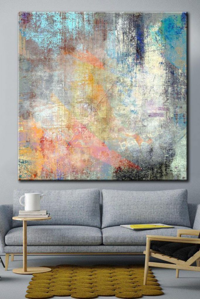 Art Colorful Abstract Acrylic Paint Canvas Art Original Wall Art | COLORFUL DREAM $258.00+