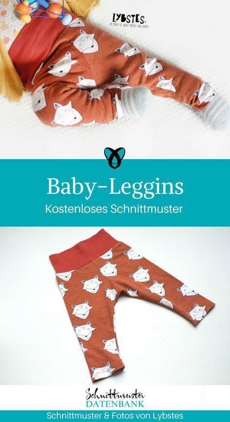 Baby-Leggins Nähen für Babies Geschenke Nähideen Baby kostenlose Schnittmuste...