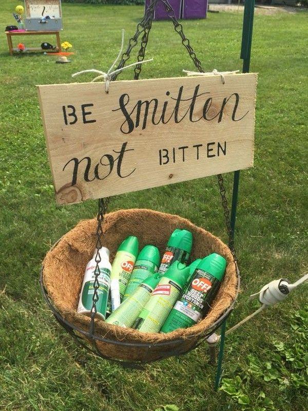 be smitten not bitten backyard wedding ideas #backyardwedding #weddingdecor #bbq...