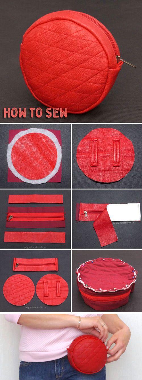 Belt Bag Sew Tutorial ~ Step by step illustration. #bag #tutorial #sew #pattern ...
