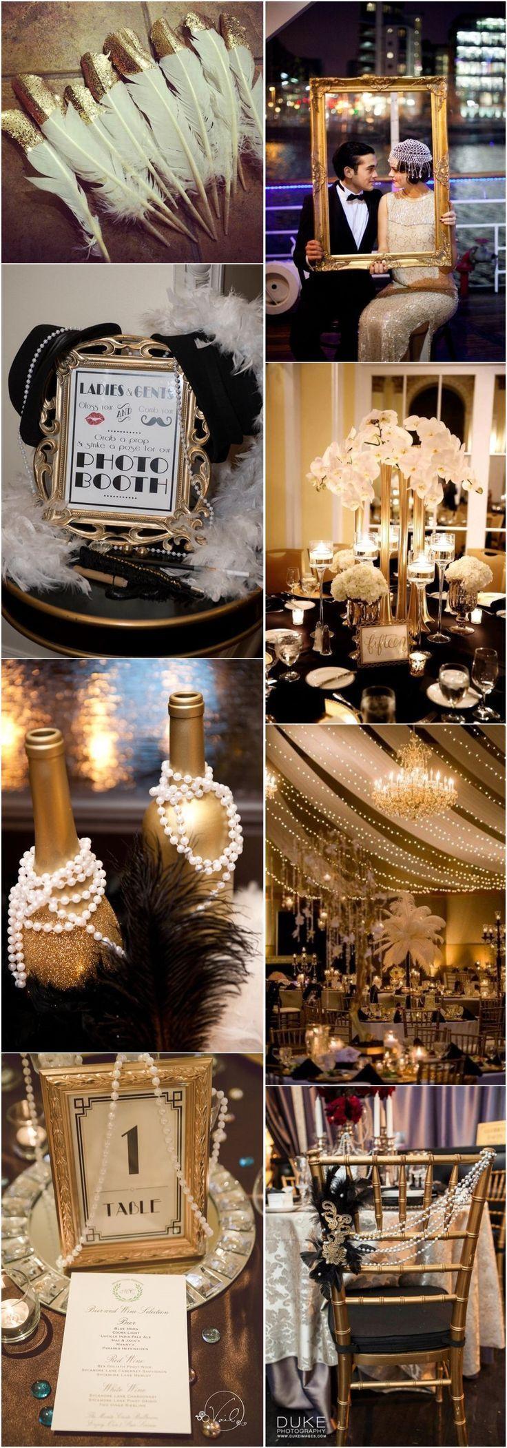 Black and gold great gatsby wedding ideas