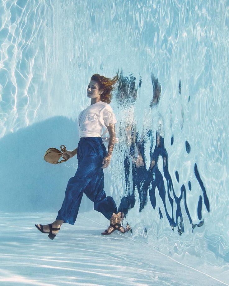 Breaking through Lenovo #ad. . . . #romainlaurent #underwater #fashion #photogra...
