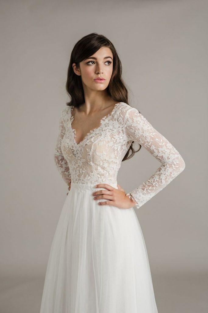 bridal dress Top 50 brautkleid mit ärmel romantisch schlicht