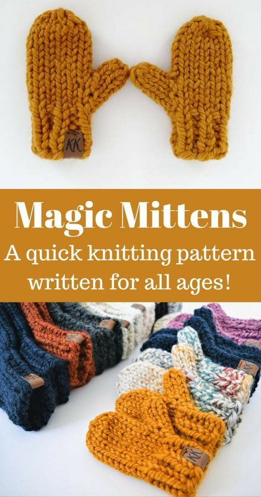 Click for the pattern and video tutorial! Magic Mittens combines a classic mitte...