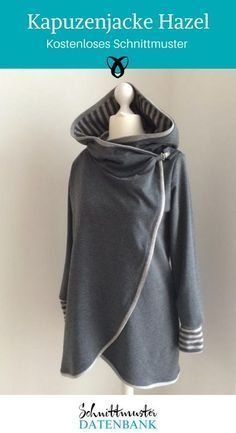 Close to a cozy hooded jacket with free sewing pattern. The jacket has ...