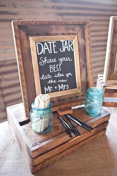Cool sign for the wedding and a creative guest book idea