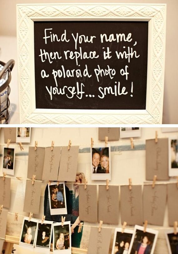 Cute idea! That way you will have at least one picture of everyone who came on y...
