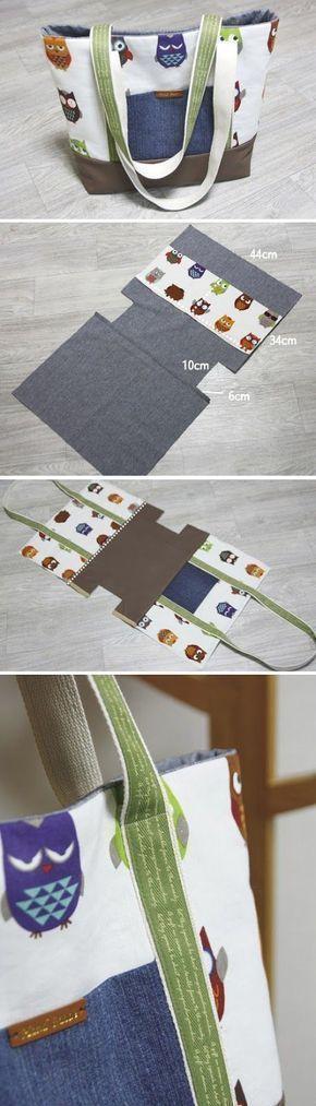 DIY Canvas Tote Bag #canvas # Shopping Bag