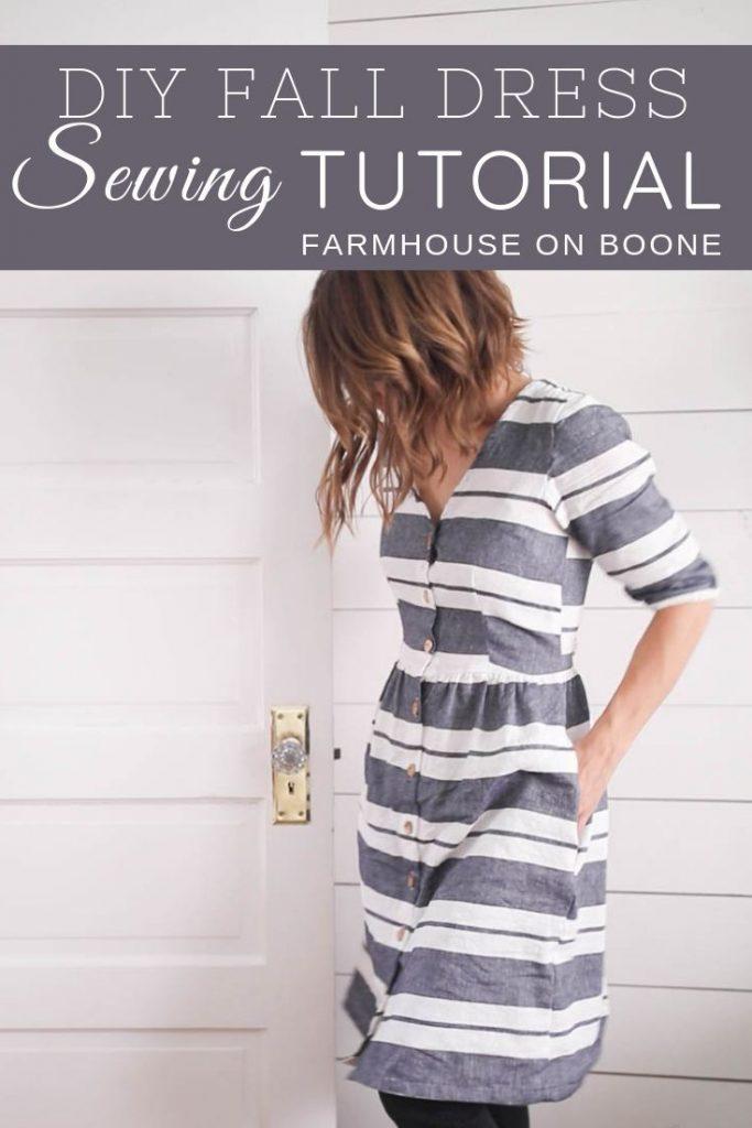 DIY dress for fall sewing tutorial megan nielsen darling ranges dress