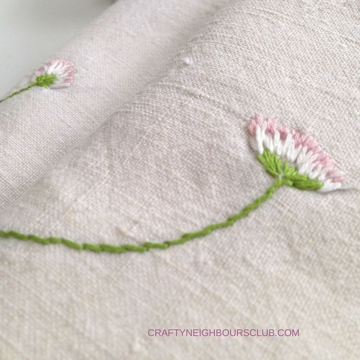 DIY: Embroidery instructions for little daisies. How You Delicate Very Fast ...