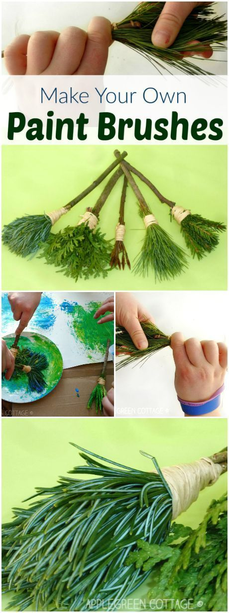 DIY nature brush for children #diyprojects #children #nature brush