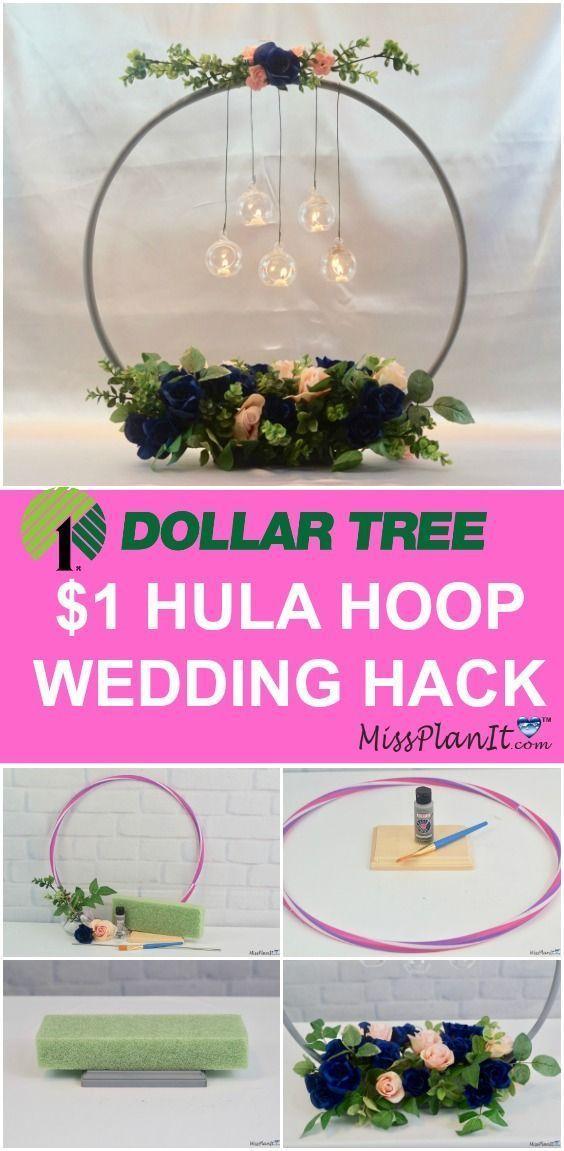 Dollar Tree Wedding Hacks. Wedding Ideas on a Budget. DIY wedding centerpieces. ...