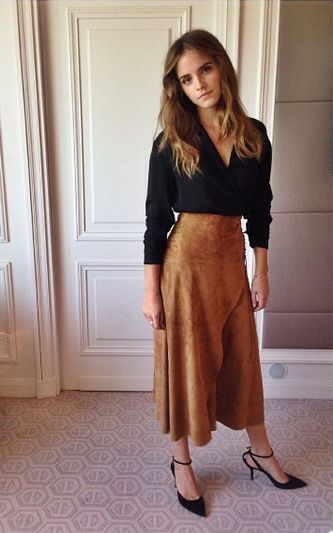 Emma Watson...love her skirt and top here...definitely not the same shape as her...