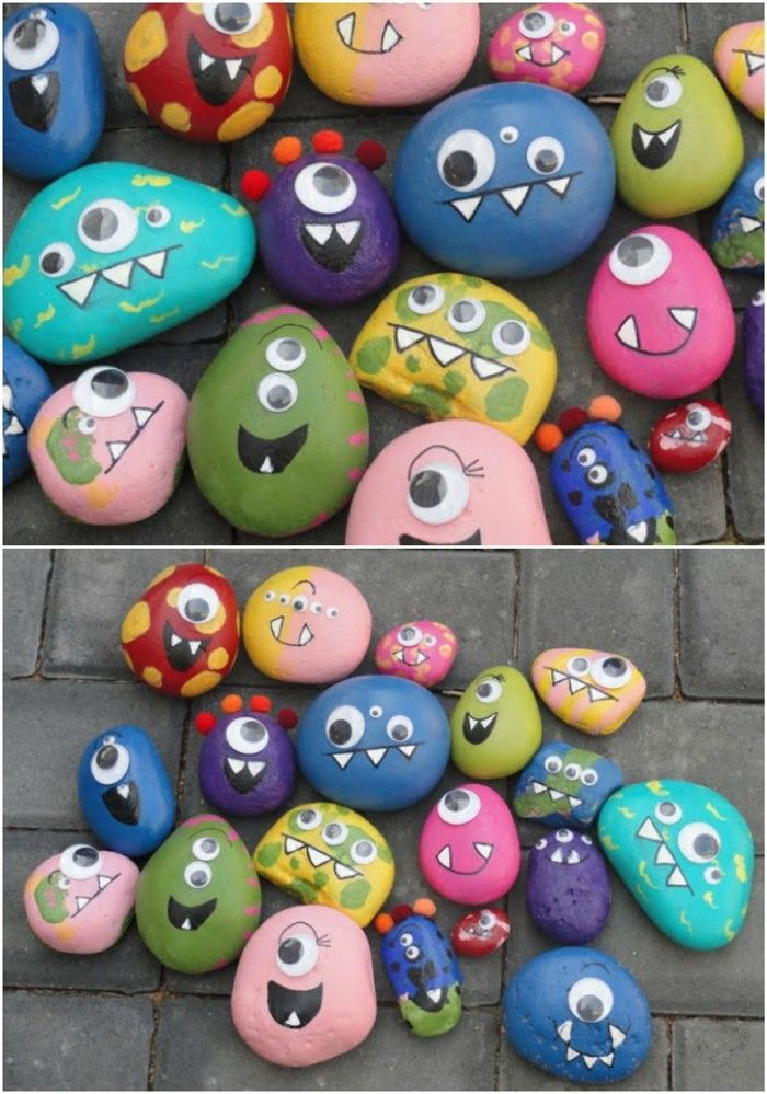 fancy garden decorating yourself make upcycling ideas diy decoration stone painted
