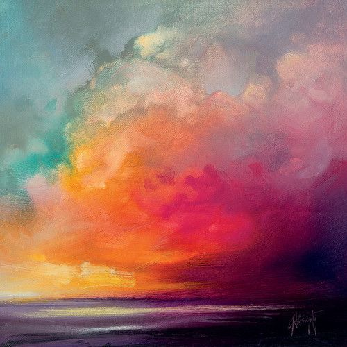 "Found at Wayfair.de - Canvas Picture ""Sunset Cumulus Study 1"" by Scott Na ..."
