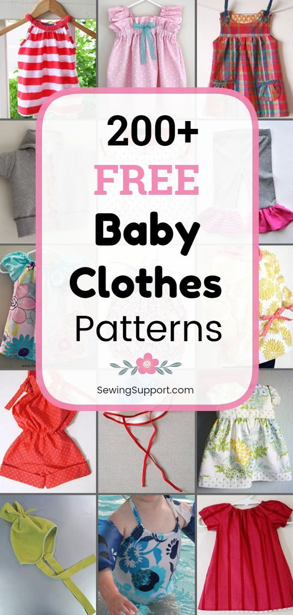 Free Baby Clothes Patterns: 200+ free baby clothes sewing patterns, tutorials, a...