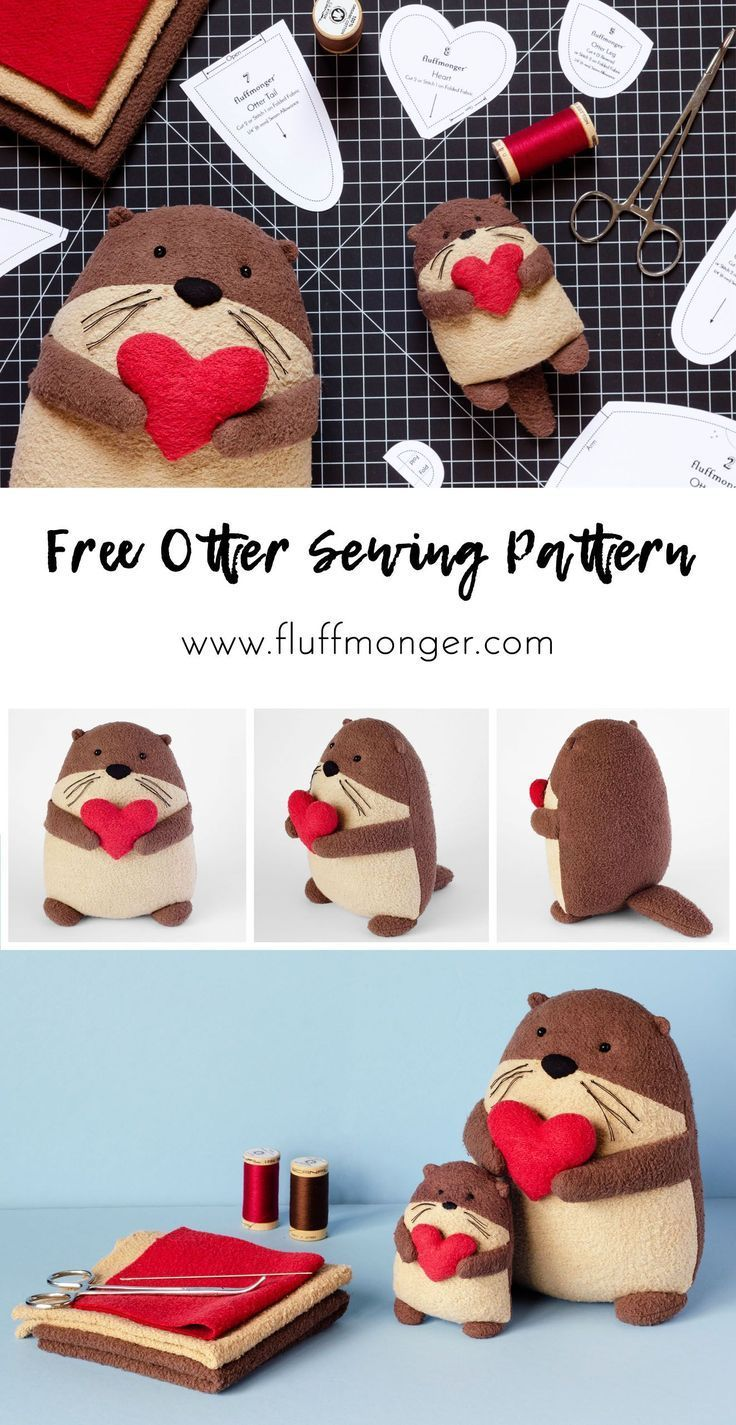 Free Otter Sewing Pattern von Fluffmonger - DIY Plüsch Otter, DIY Geschenke, ge...