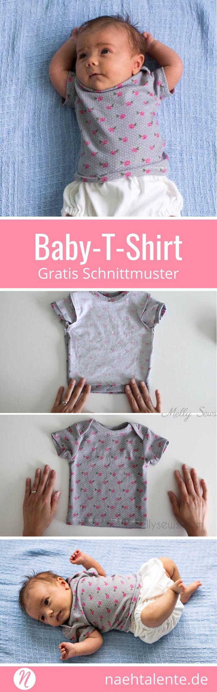Freebook für ein Baby-T-Shirt. 0 - 3 Monate. Geeignet für leichte und mittelsc...