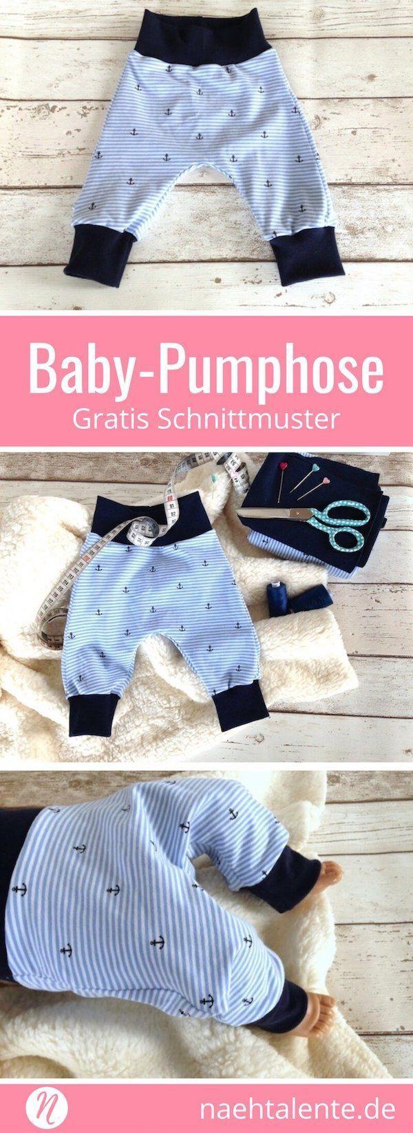 Freebook für eine Baby-Pumphose aus Jersey. Mit sehr guter Nähanleitung. Für ...