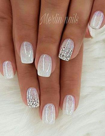 French manicure | natural nails bright nail polish #nails #nagellak # wedding na...