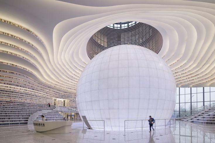 Gallery of Tianjin Binhai Library / MVRDV + Tianjin Urban Planning and Design In...
