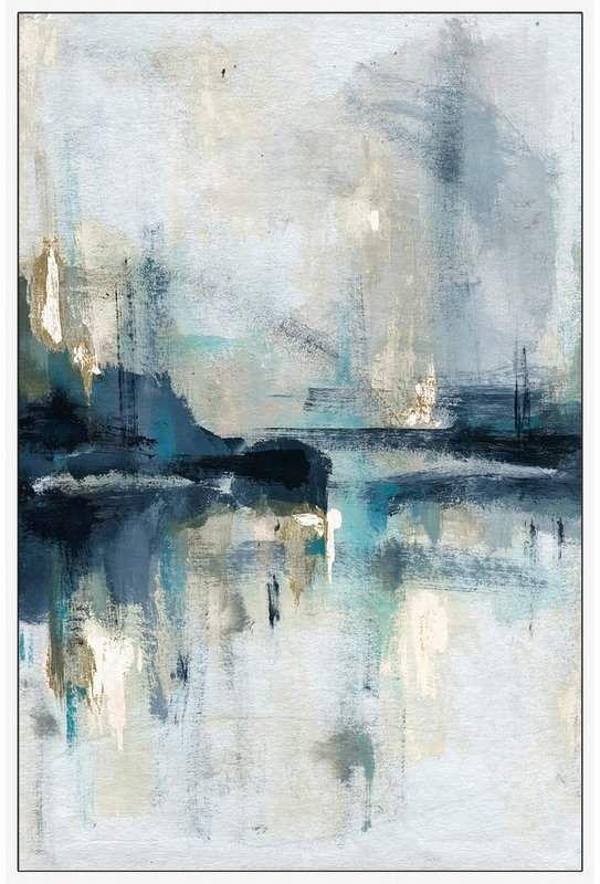 George Oliver 'Senne Flueve' Framed Acrylic Painting Print on Canvas