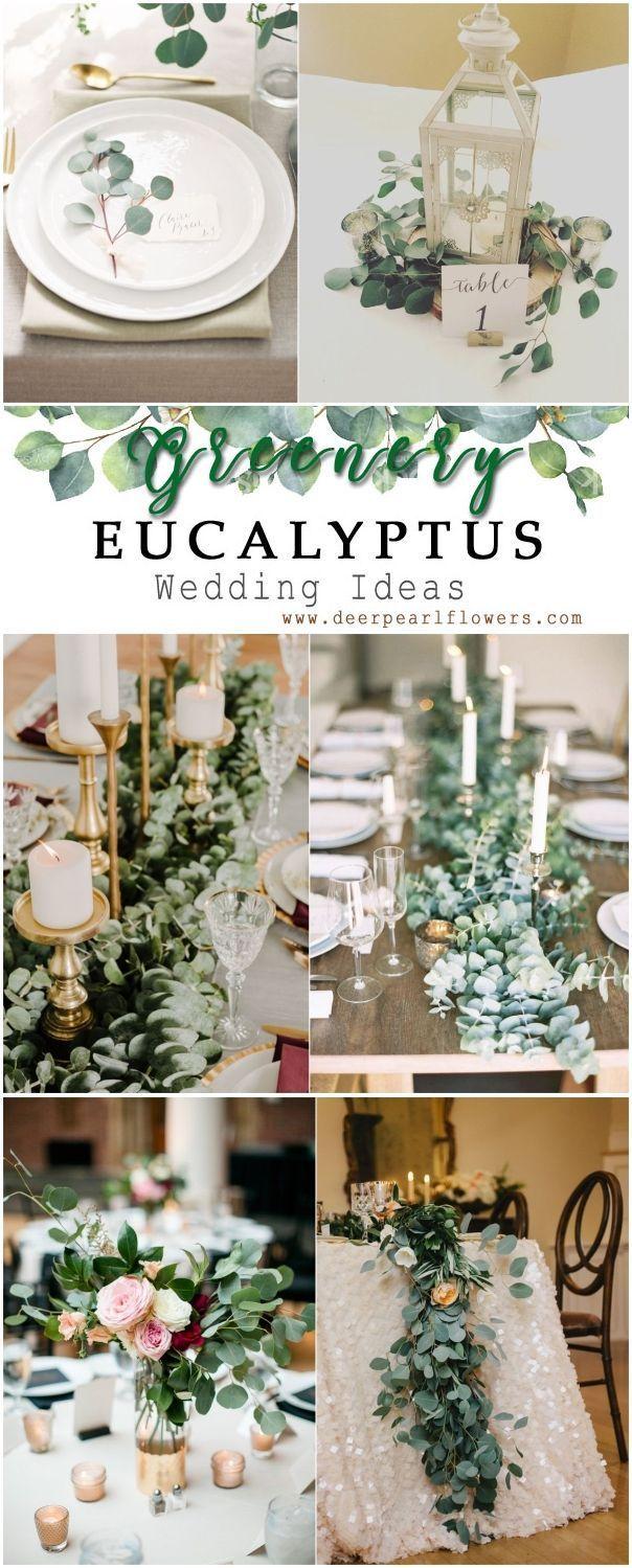 Grün Eukalyptus rustikale Hochzeit Dekor Ideen # grün # Hochzeit # Hochzeit .....