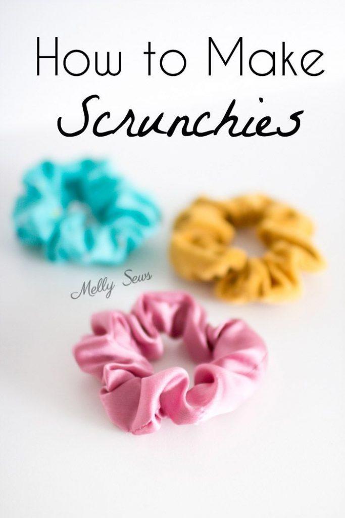 How to make scrunchies - DIY hair ties tutorial - Melly Sews