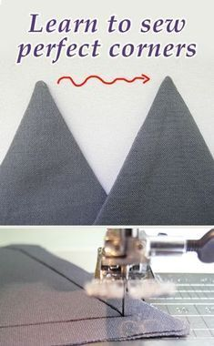 How to sew perfectly sharp corners, sewing tutorial