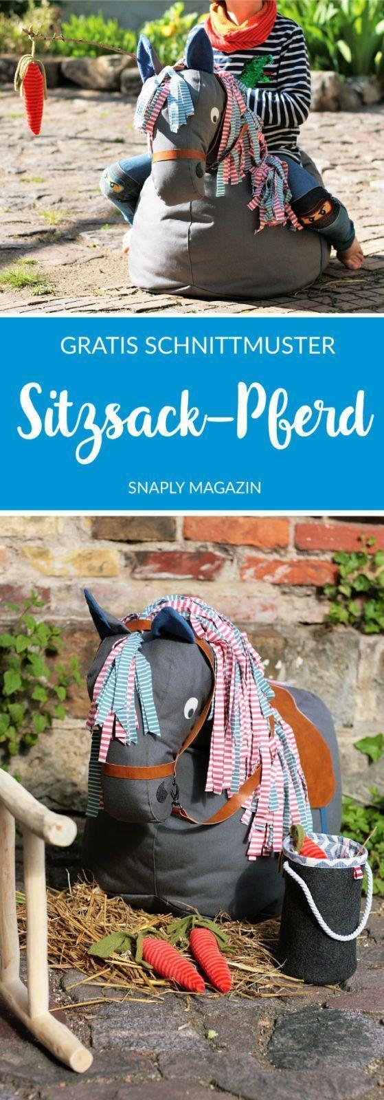 Kostenloses Schnittmuster für ein Sitzsack-Pferd   Snaply-Magazin